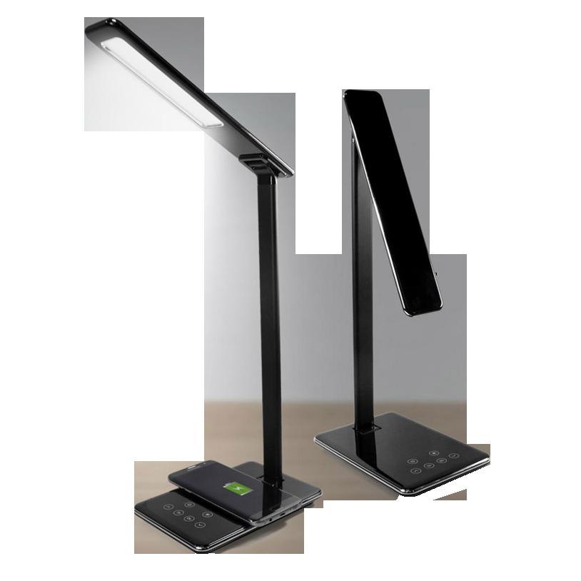 Namizna LED svetilka z brezžičnim polnilcem